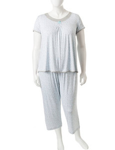 Rene Rofe Blue / Grey Pajama Sets