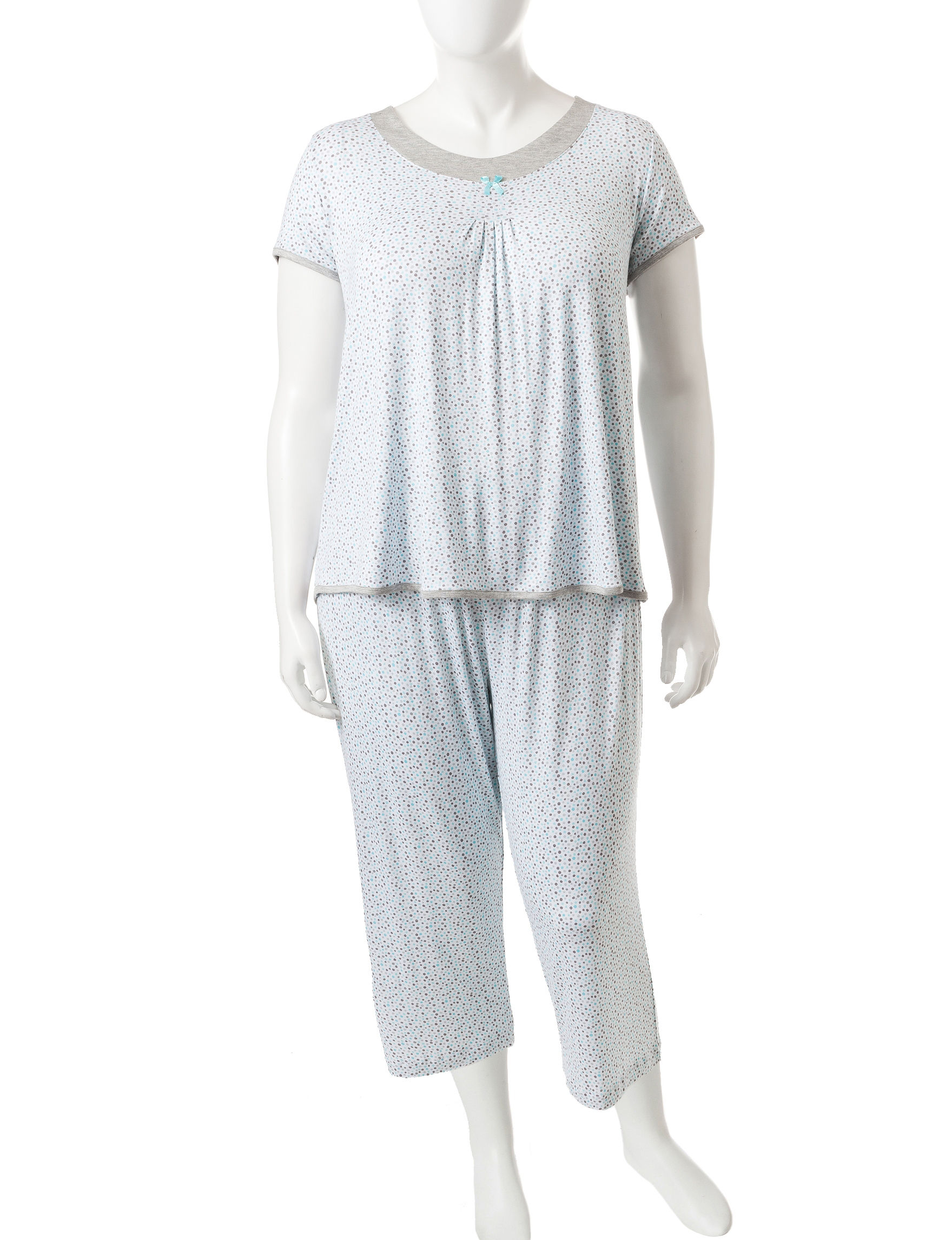 Rene Rofe Blue / Grey Pajama Sets