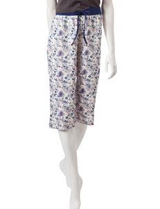 Rene Rofe Pink / Blue Pajama Bottoms