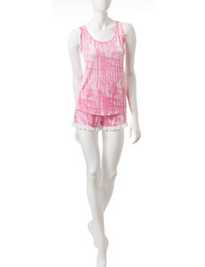 PJ Couture Pink / White Pajama Sets