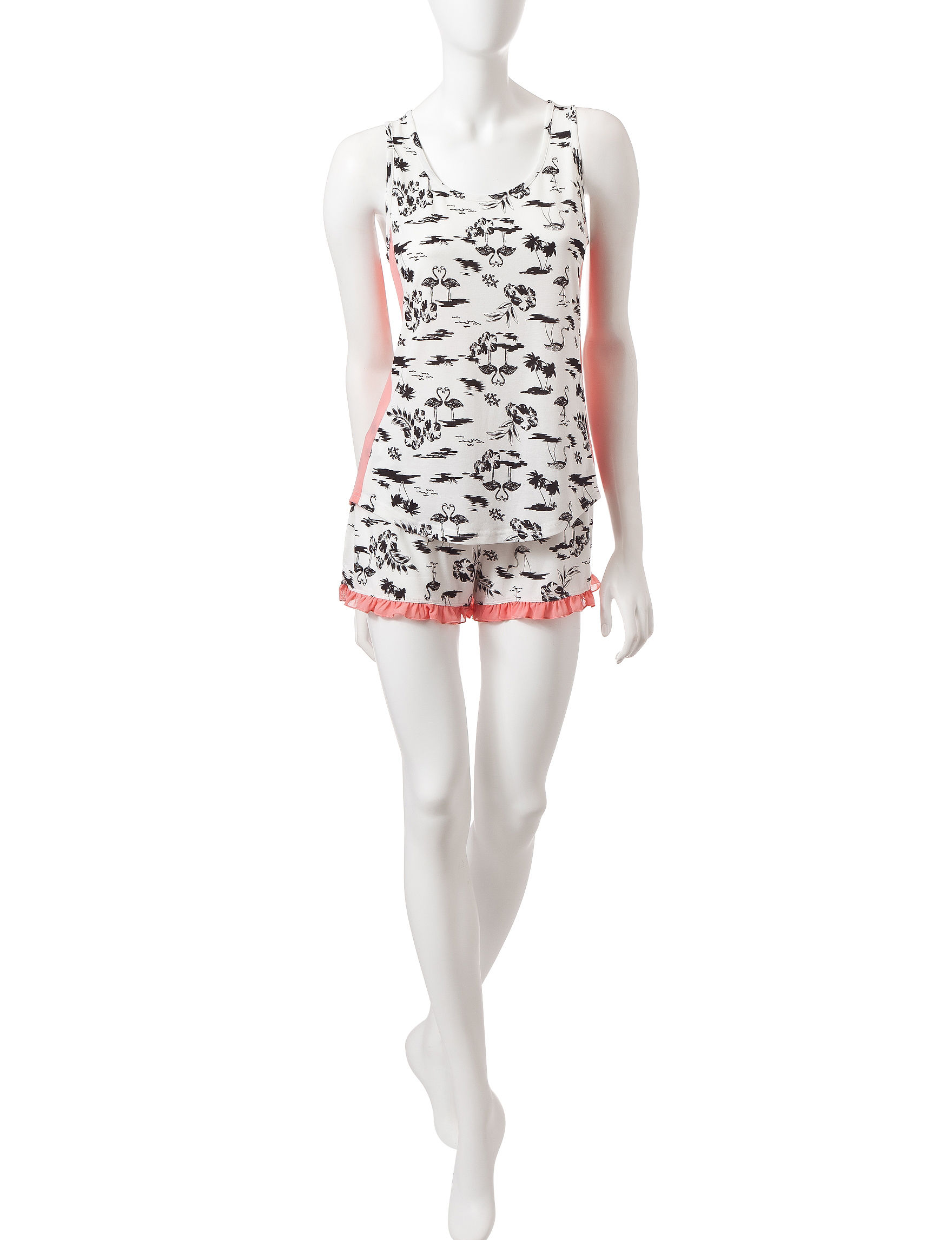 PJ Couture Black / White Pajama Sets