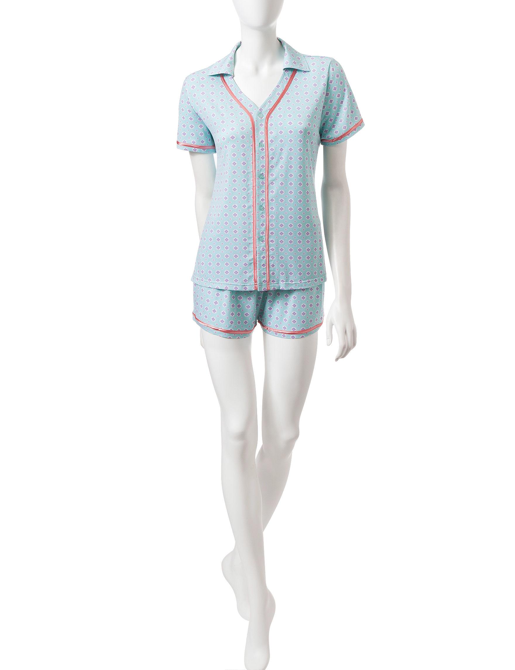 Hanes Blue / Green Pajama Sets
