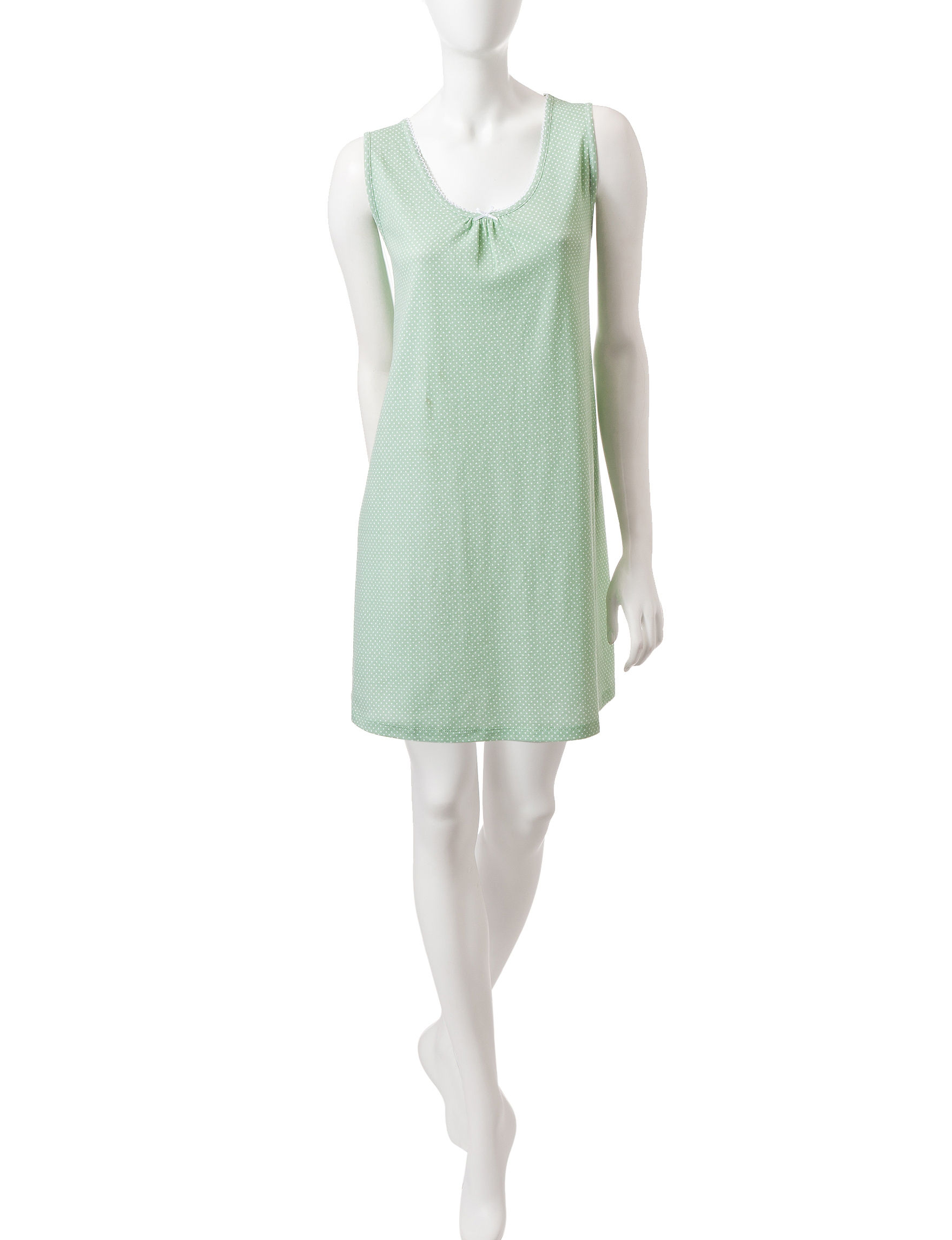 Karen Neuburger Green / White Nightgowns & Sleep Shirts