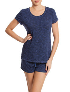 Linea Donatella 2-pc. Blue Space-Dye Knit Pajama Set