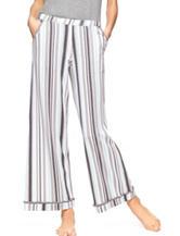 Hue® Grey & Blue Striped Pajama Pants