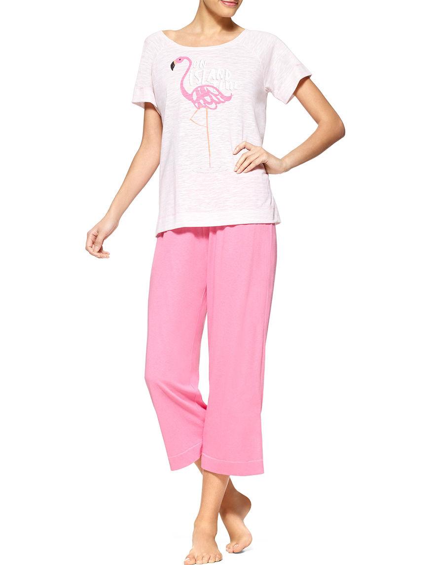 Hue Pink Multi Pajama Sets