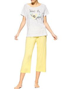 Hue 2-pc. Shine On Yellow Capris Pajamas