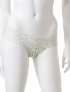René Rofé Mint Cross My Mind Thong Panties
