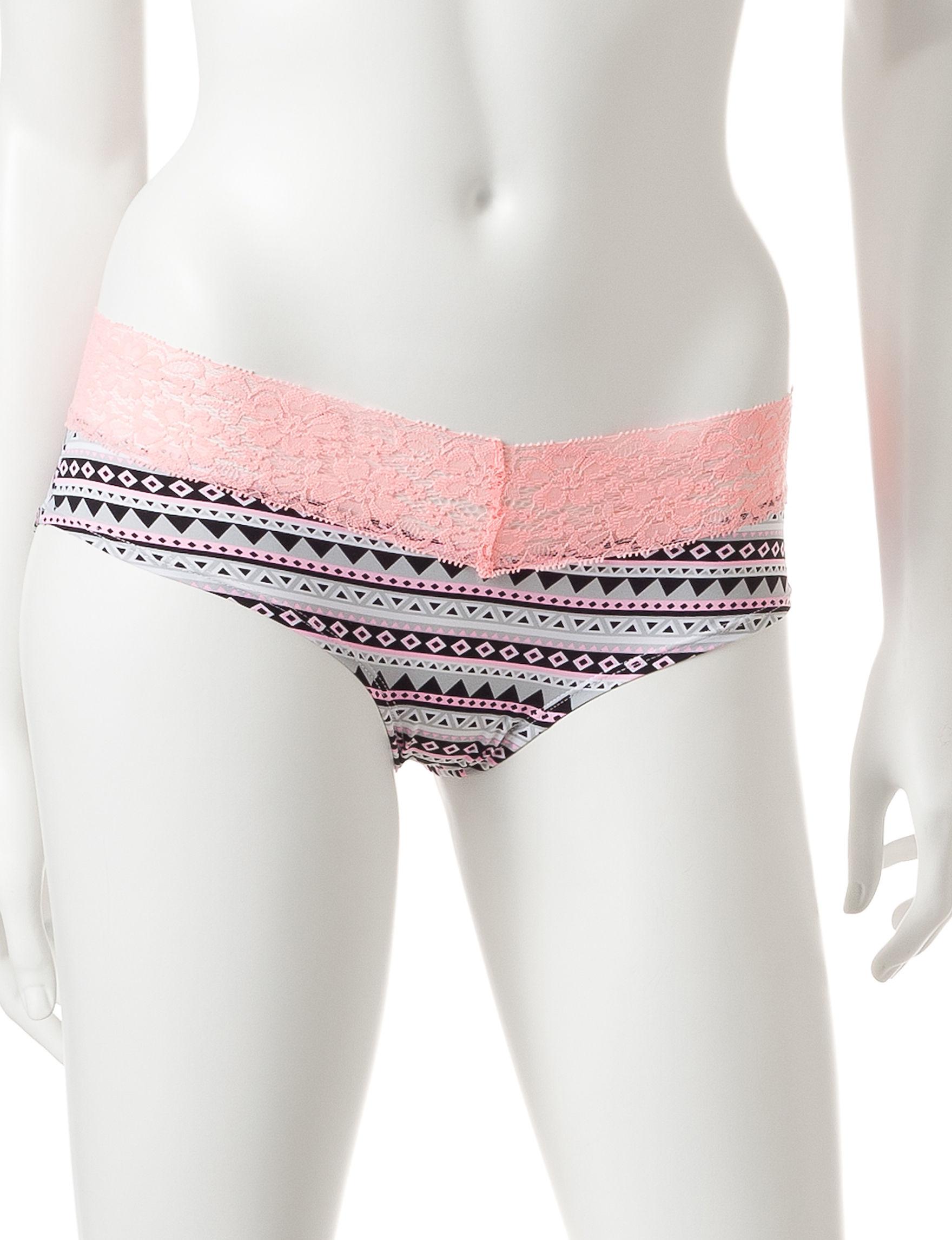 B Intimates Pink / Grey Panties Hipster