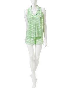 Laura Ashley 2-pc. Seahorse Print Top & Shorts Pajamas