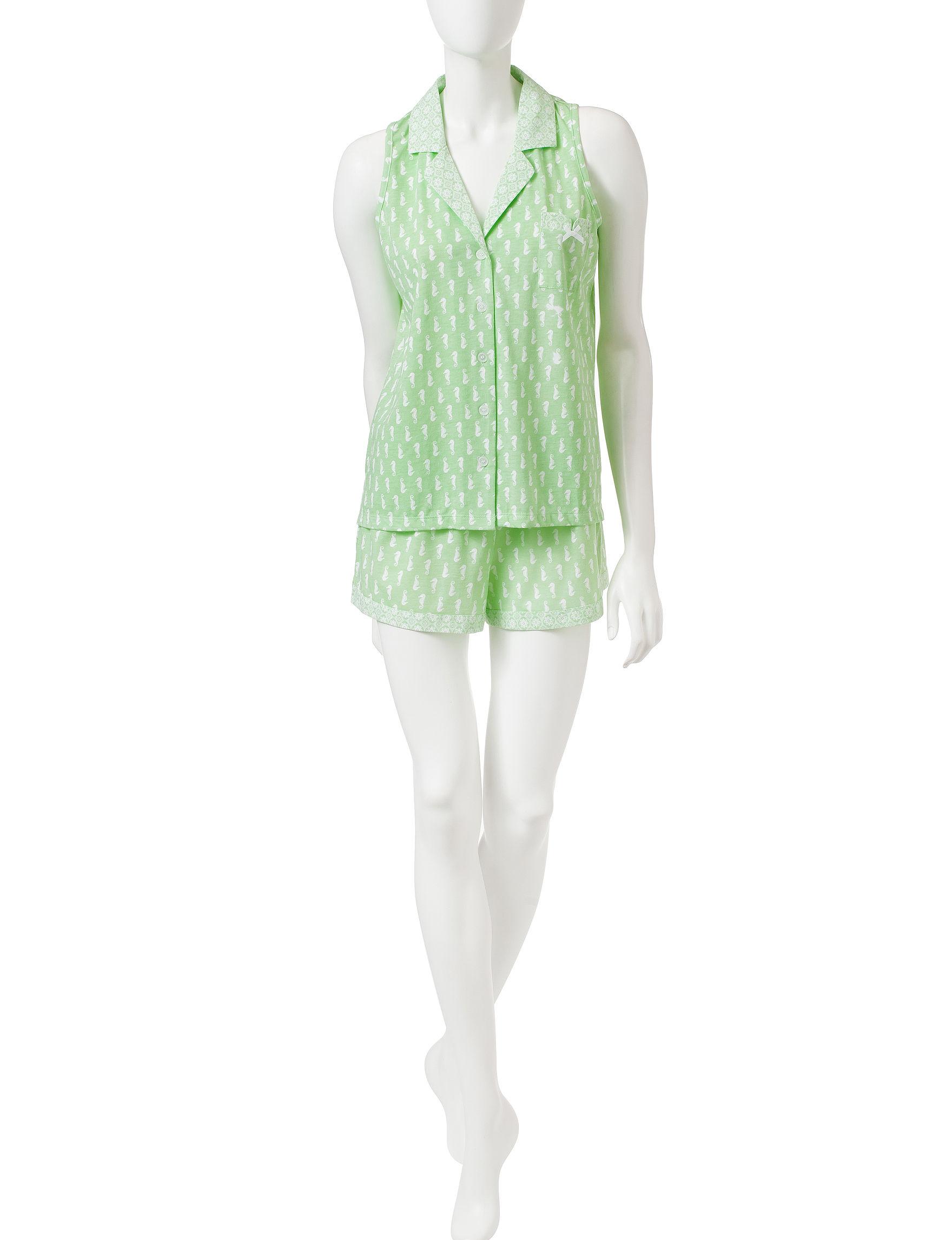 Laura Ashley Green Pajama Sets