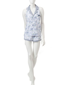 Laura Ashley Scenic Top & Shorts Pajamas