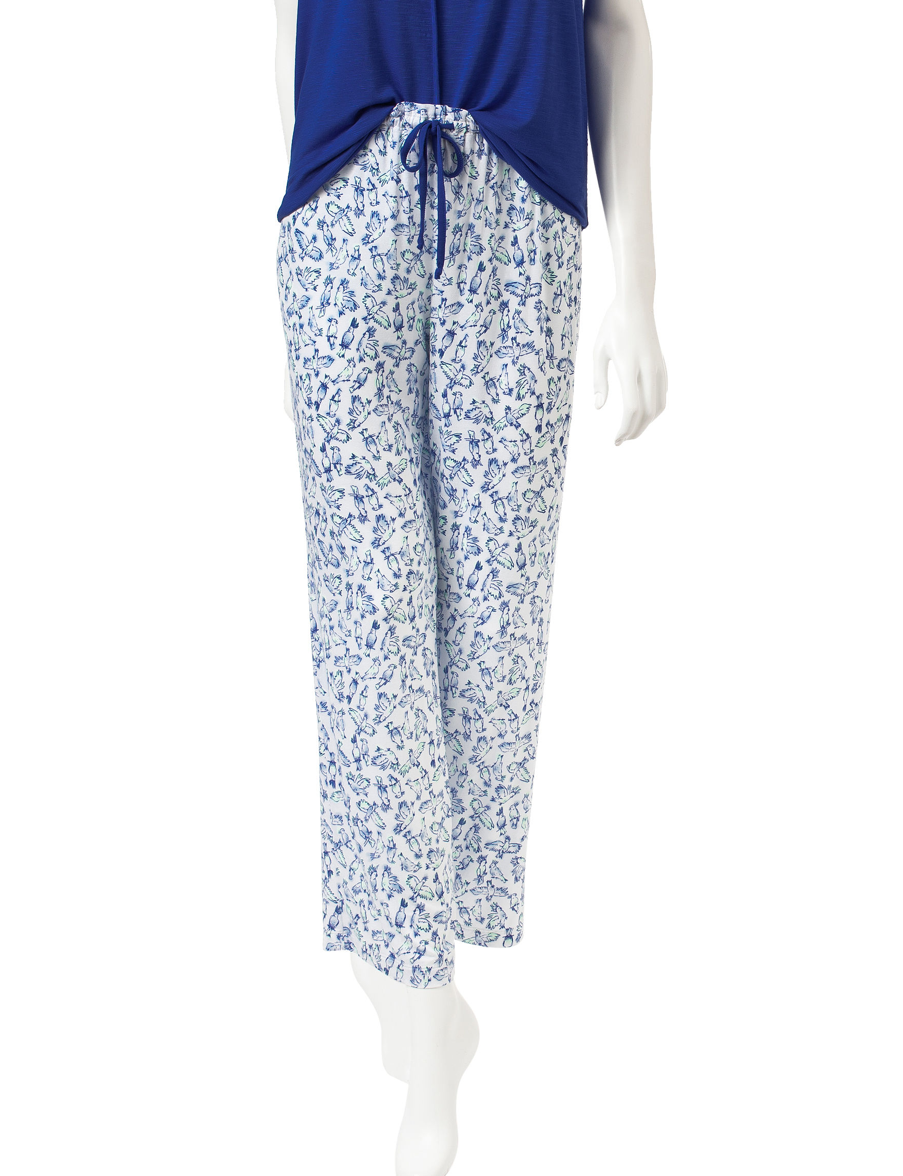 Laura Ashley Blue / White Pajama Bottoms