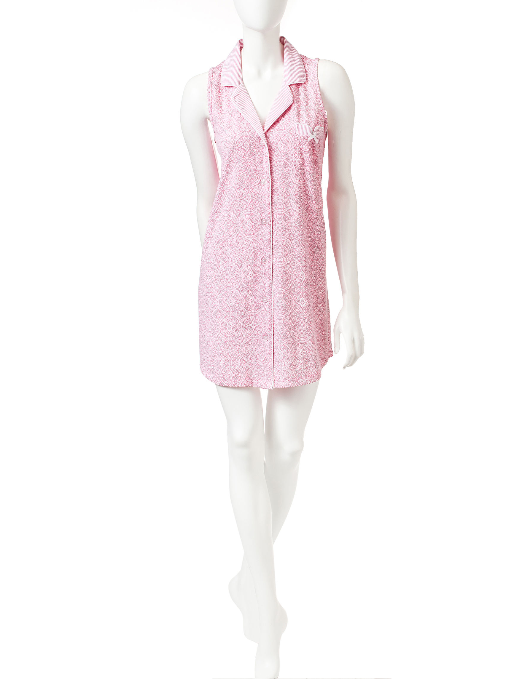 Laura Ashley Pink Multi Nightgowns & Sleep Shirts