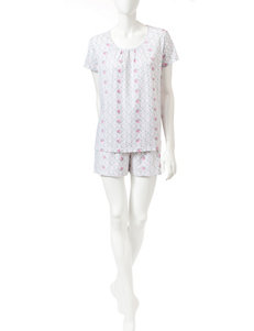 White Orchid Grey Pajama Sets