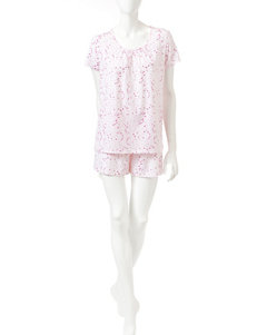 White Orchid Pink Multi Pajama Sets