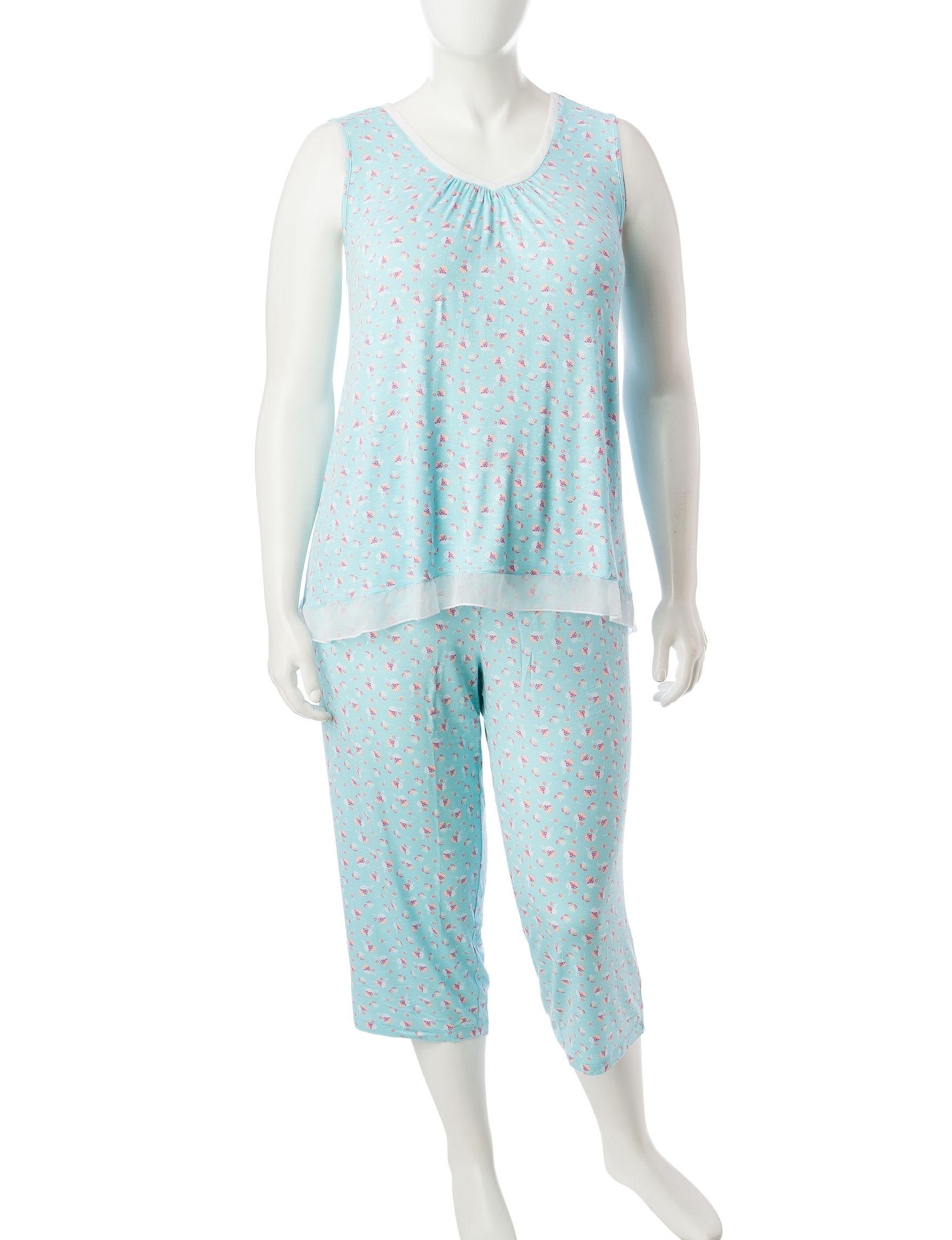 Ellen Tracy Purple Multi Pajama Sets