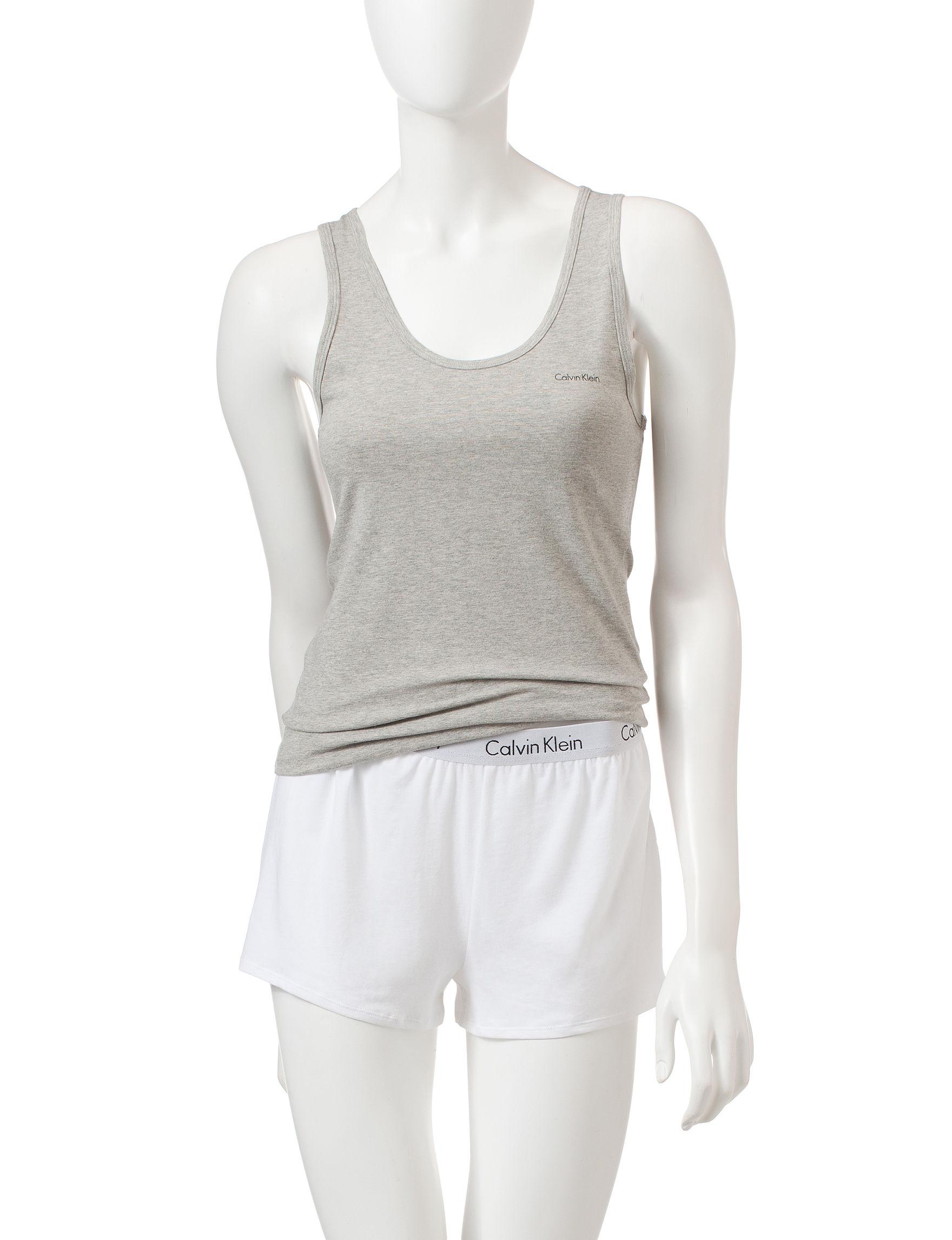 Calvin Klein Medium Grey Pajama Tops