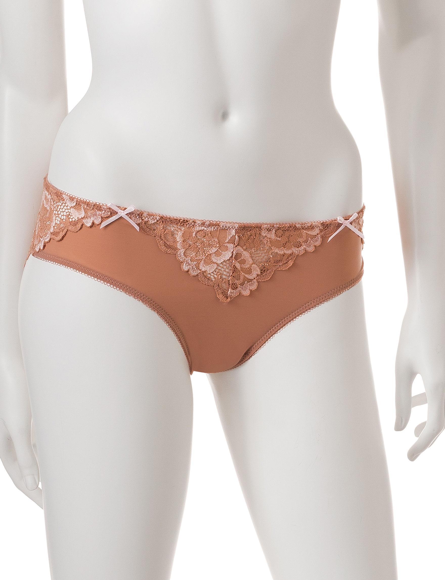 Rene Rofe Brown Panties High Cut