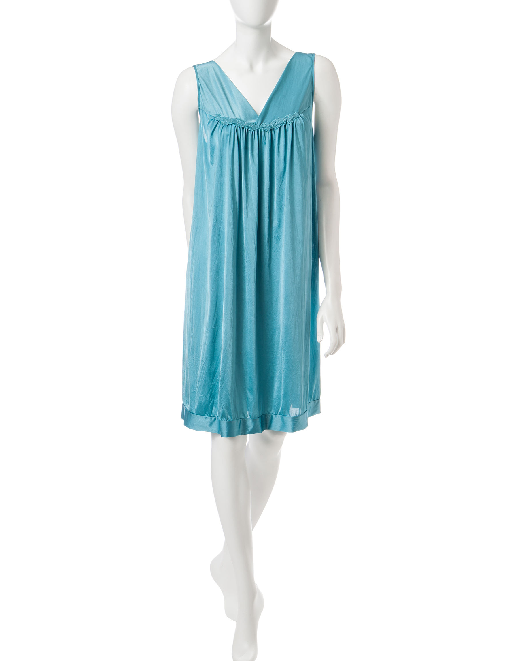 Vanity Fair Teal Nightgowns & Sleep Shirts