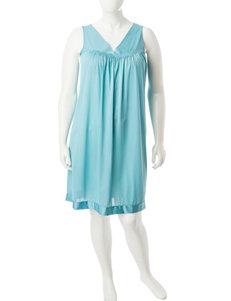 Vanity Fair Teal Nightgowns & Sleep Shirts
