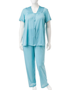 Vanity Fair Teal Pajama Sets
