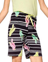 Hue® Bird on a Wire Pajama Shorts