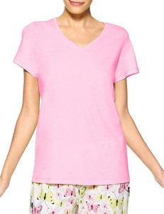 Hue Solid Pink Pajama Top