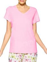 Hue® Solid Pink Pajama Top