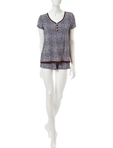 René Rofé 2-pc. Leopard Print Top & Shorts Pajamas