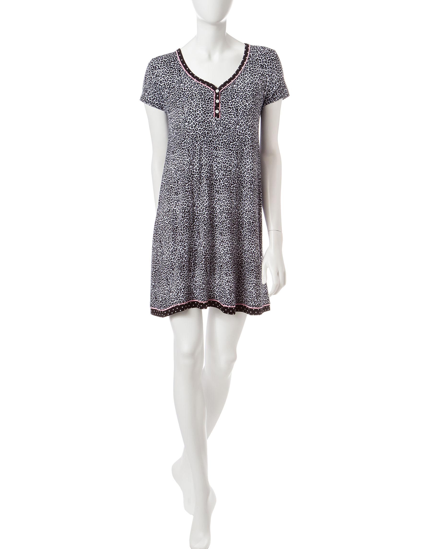 Rene Rofe Animal Print Nightgowns & Sleep Shirts
