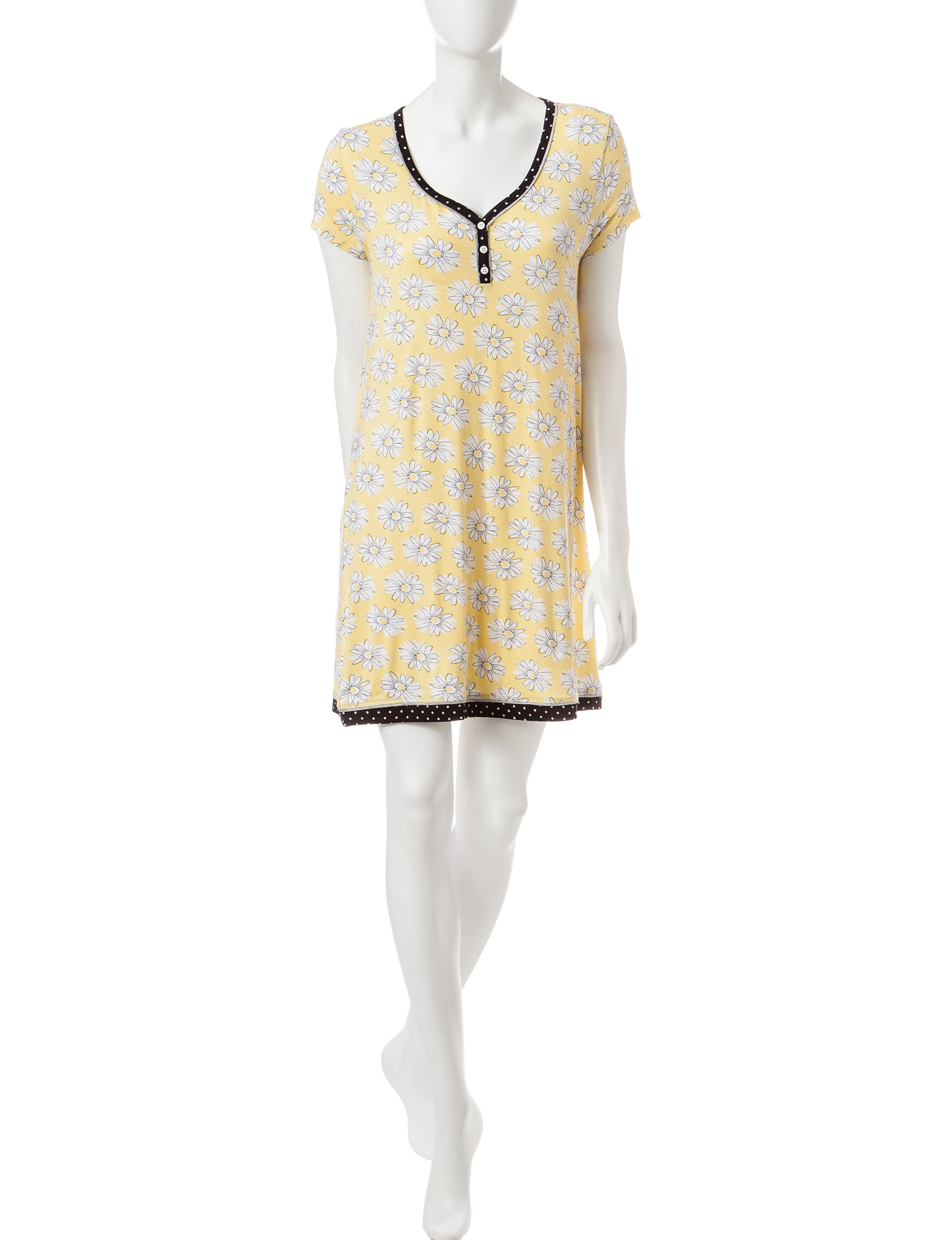 Rene Rofe Pink Multi Nightgowns & Sleep Shirts