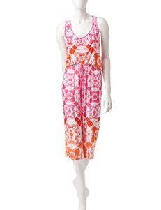 Linea Donatella Pink / Orange Pajama Sets