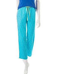 Goodnight Kiss Turquoise Polka Dot Pajama Pants