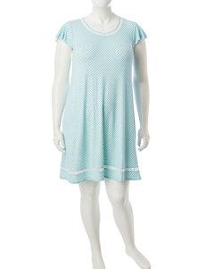 Ellen Tracy Blue Multi Nightgowns & Sleep Shirts