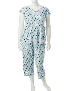 Ellen Tracy Grey Pajama Sets