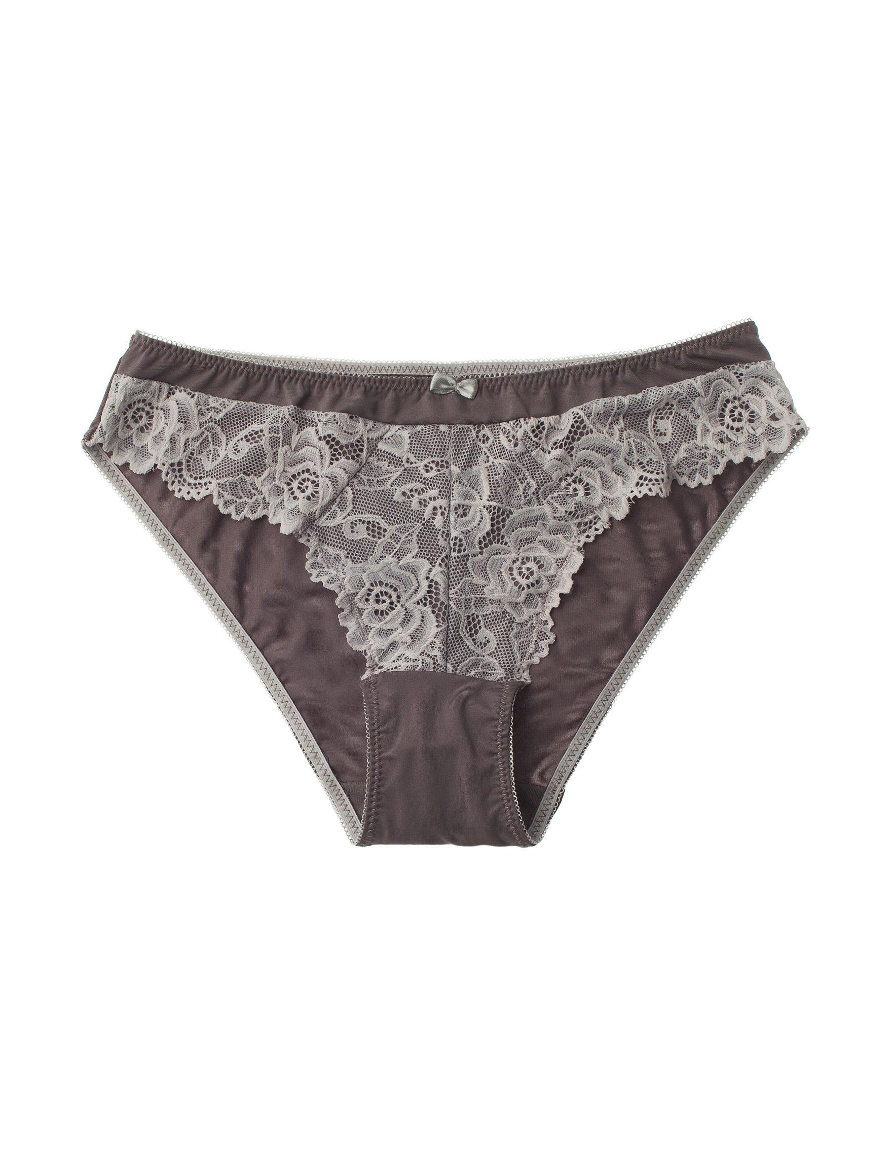 Rene Rofe Grey Panties Bikini High Cut