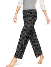 Hue® Wavy Script Pajama Pants