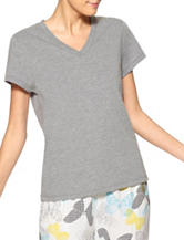 Hue® Heather Grey Pajama Top
