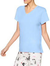 Hue® Light Blue Pajama Top