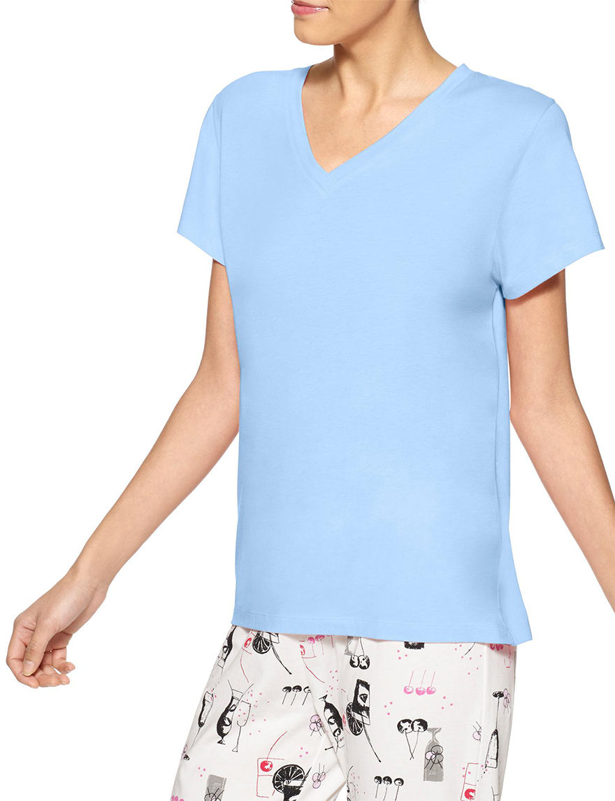 Hue Blue Pajama Tops