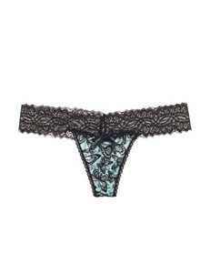René Rofé Lace Trim Mesmerized Thong