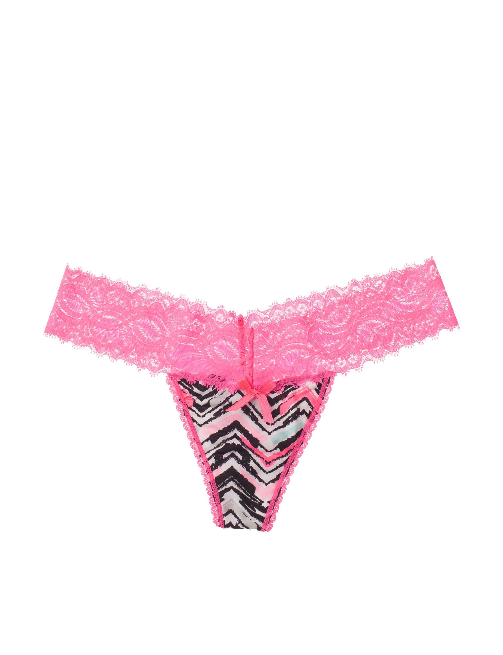 Rene Rofe Grey Multi Panties Thong