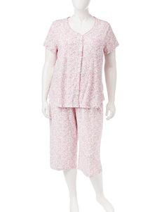 Karen Neuburger Pink Multi Pajama Sets