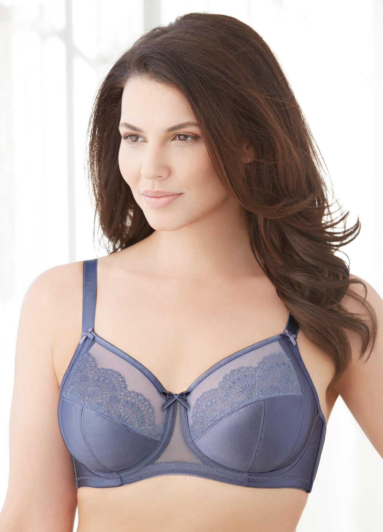 Glamorise Blue Bras Full Figure