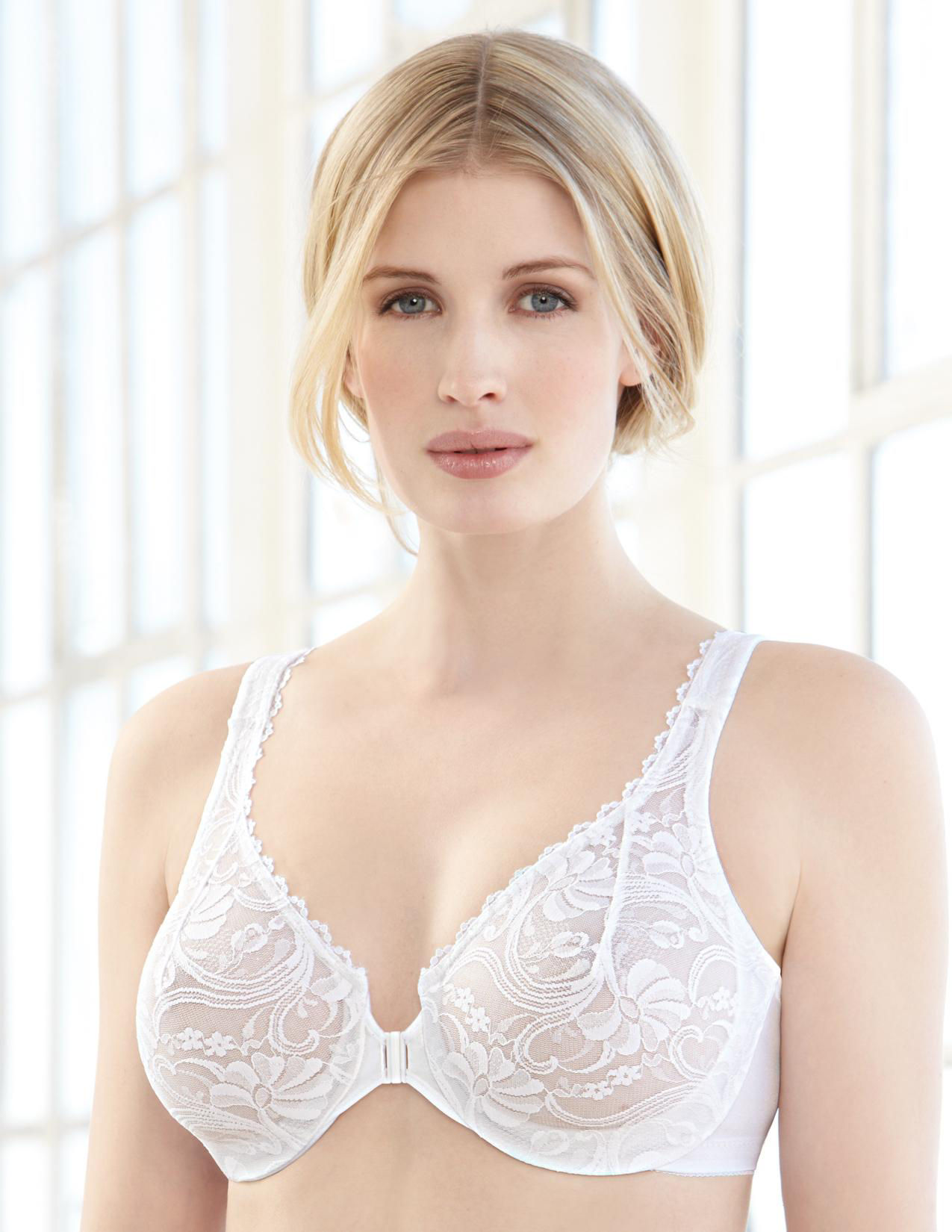 Glamorise White Bras Full Figure