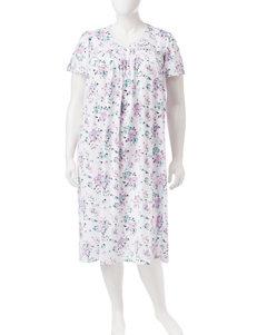 Aria White Nightgowns & Sleep Shirts
