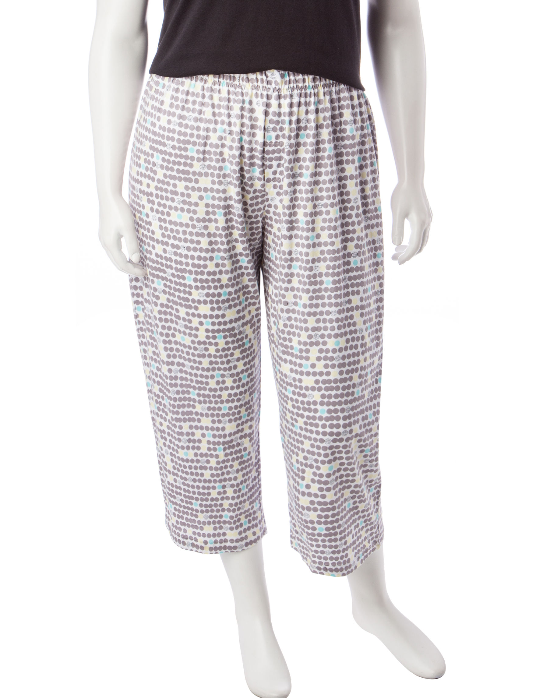 Hue White Pajama Bottoms