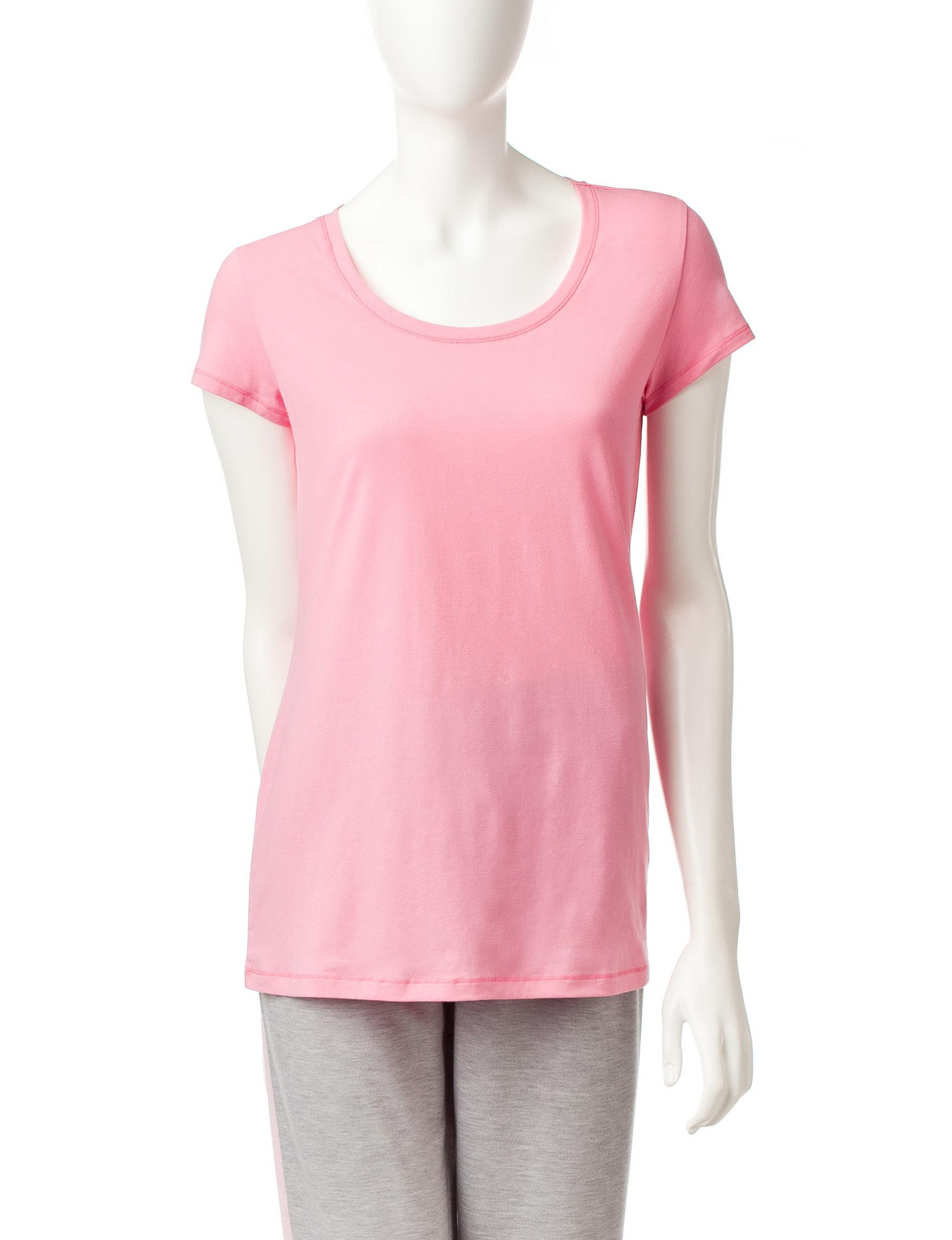 Rene Rofe Pink Multi Pajama Tops