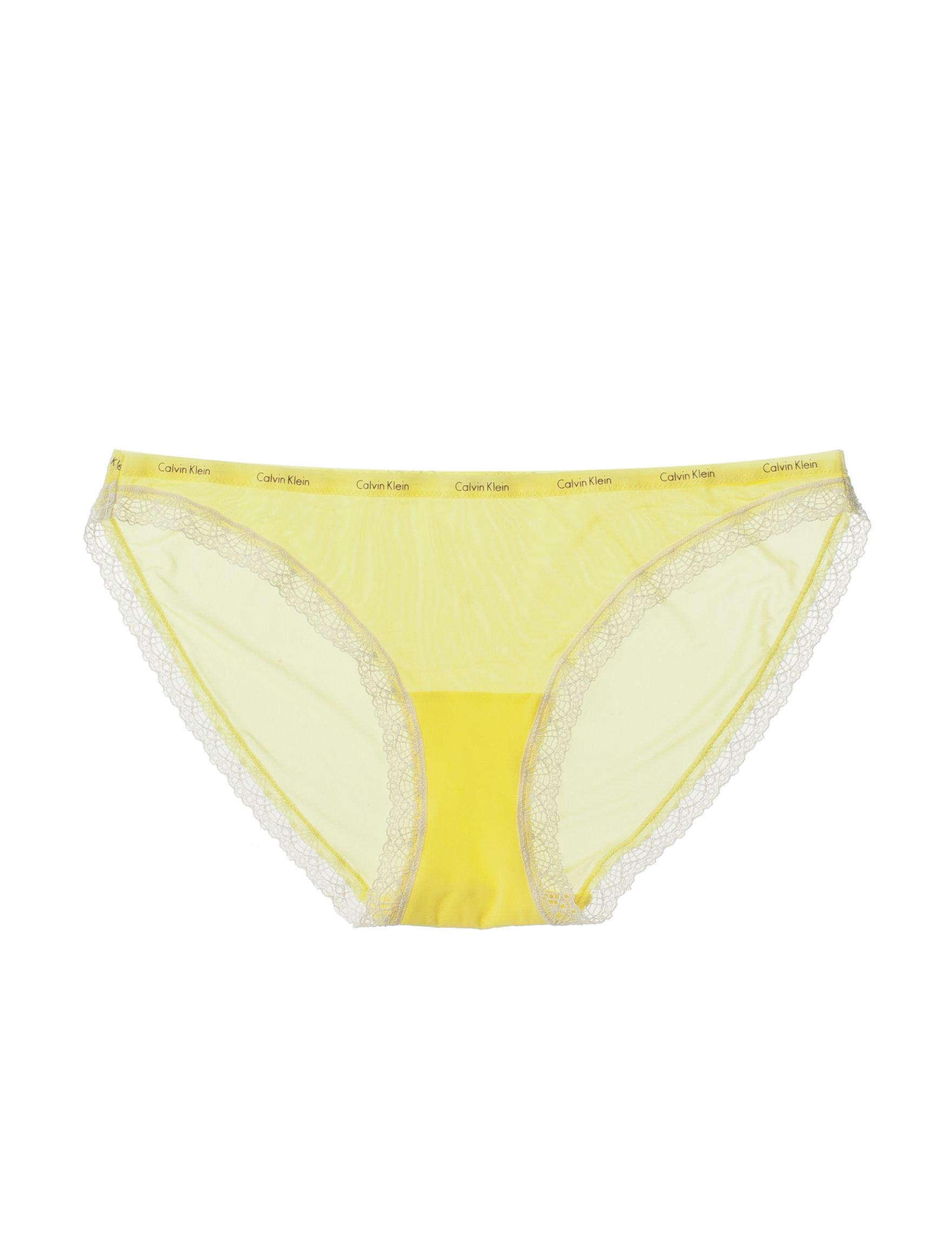 Calvin Klein Yellow Panties Slimming